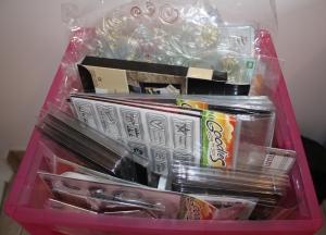 Caixa de clear stamps